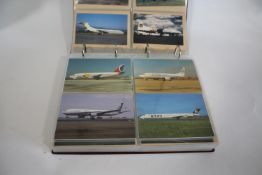ALBUMS OF AEROPLANE POSTCARDS - AVIATION INTEREST 9 albums with a large and extensive collection