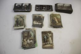 WWI FRENCH POSTCARDS & STEREOCARDS a large qty of WWI period coloured postcards, with depictions