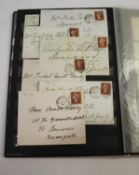 GREAT BRITAIN STAMP ALBUM a stock book from 1841 1d red brown and 2d blue, later 1d red plates,