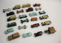 VINTAGE DIE CAST TOYS - DINKY TOYS a qty of unboxed die cast toys, including Dinky Toys Frazer-Nash,