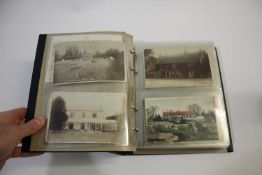 LOCAL POSTCARD ALBUM an album of approx 156 local postcards including Misterton (Station and Station