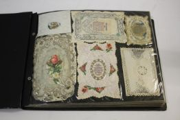 POSTCARD ALBUMS including 3 albums with vintage greetings and remembrance cards, a large scrap album