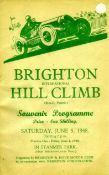Brighton Speed Trials & T. T. Programmes. A collection of about 28 programmes, including those for