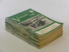"""The Vintage and Thoroughbred Car. A complete loose run of the 39 monthly issues of this magazine """""""
