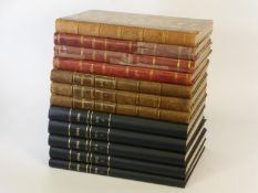 Omnia: Pratique de Locomotion. 12 quarto hardbound volumes in mixed bindings, comprising an