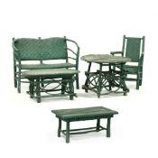 Five Pieces of Green Twig Furniture