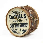 Vintage Bass Drum With Band Name