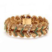 Vintage 18KT Gold and Gem-Set Bracelet, Retzignac