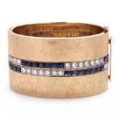 Platinum, Gold, and Gem-Set Bracelet