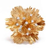18KT Gold and Diamond Brooch, Cellino