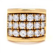 Wide Gold and Diamond Band