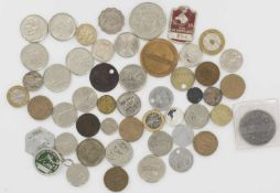 Lot of coins from Europe, as well as stamps. some reprints. Please visit.