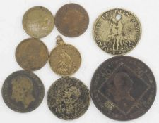 Lot of coins and medals, Austria 1807 30 Kreuzer French II. Please have a look.