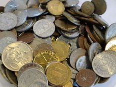 Lot of coins, all the world. South Africa, France, Italy, etc.