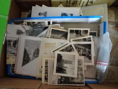 Lot of philately in a box, all over the world, remnants from large consignments - please have a