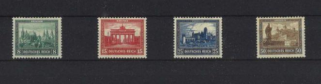 German Empire 1930, Michel No. 450-453, catalog price 140 euros