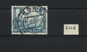 German Empire 1933, Michel No. 505A, catalog price 250 euros