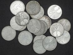 Germany, Lot 5.- DM - silver coins (silver eagle), different vintages. Mainly XF.
