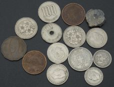 small coin slot all over the world, with China, Japan, Greece, etc.