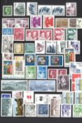 Collection of stamps, including Iceland, Norway, Sweden, Austria with miniature sheets, etc.