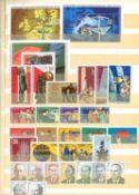 GDR duplicate album, many blocks, miniature sheets, overprints, etc.