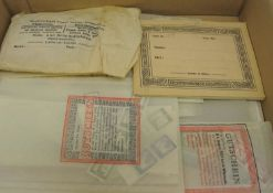 """Small lot of bags in a box """"All World"""", Germany - heavy. Viewing recommended."""