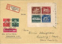 German Empire 1935 letter, Michel No. Block 3 without block margin. Catalog price 320 euros