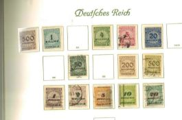 German Empire, Borek printed album, from Michel No. 31, little occupied.