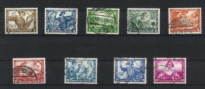 German Empire 1933, Wagner set, Michel No. 499-507, catalog price 380 euros