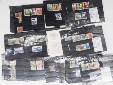 Switzerland, Lot stamps on stock cards. Over 90 plug-in cards. Catalog value 1953.95 Euro. Certainly