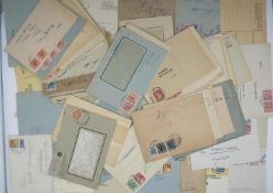 Germany 1945/49, 100 documents, legitimate post, all zones, single franking, multiple franking,