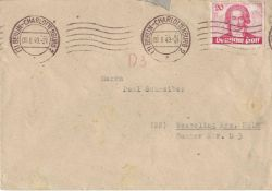 Berlin 1949, Michel number 62 as EF on cover from Berlin - Charlottenburg to Wesseling. With