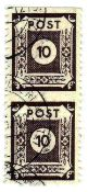 Soviet Zone East Saxony, postage stamps Michel number 45 E as vertical pair, used. Tested: BPP