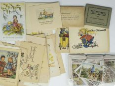 "Convolute collection pictures, consisting of ""world wars why?"", German history Bd I + II "","" flowers"