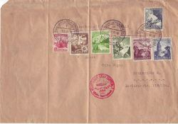 "German Empire in 1938, Airship - Post ""Graf Zeppelin"" stamped ""flight and the airship port Rhein-"