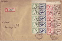 German empire 1936, R letter, local letter from Neugersdorf / Saxonia with Michel - No. 609, 610,
