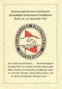 "SBZ, propaganda card ""Remembrance for the 2nd Party Congress of the Socialist Unity Party Berlin"