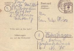 Allied Occupation British Zone 1945, makeshift editions, P793 from Schwerin to Petershagen b.