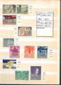 Kleine Sammlung Liechtenstein, dabei Jahrgang 1961-1973, diverse Katalognummern. Sauber gesammelt.