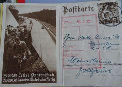 Lot Postkarten, meist Deutschland, aber auch etwas Europa. Dabei auch ältere Vorkriegskarten,