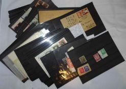 Schuhkarton voll Steckkarten, dabei viele Deutsches Reich. Schöne Werte und Abstemplungen. Bitte