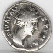 Rom Kaiserzeit, Denar, Diva Faustina Maior. Silber. Gewicht: a. 3,1 g. VZ. Rome Imperial Era,