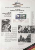 """50 Jahre Bundesrepublik Deutschland im Album. Dazu Album """"""""Raphael"""""""" und ein Lot Jubiläumsbriefe /"""
