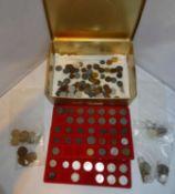 Lot Münzen aus einer Haushaltsauflösung, dabei Notgeld, Deutsches Reich, etc. Bitte besichtigen!