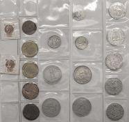 Lot Medaillen. Teilweise Nachprägungen des Vierteltalers von 1619 Johann Ludwig von Leiningen -