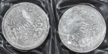 """BRD 1987 G, 2 x 10.- DM - Silbermünzen """"30 Jahre römische Verträge"""". Stgl. FRG 1987 G, 2 x 10 DM -"""
