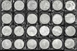 """BRD, 24 x 10.- DM - Silbermünzen, """"Olympische Spiele München"""". VZ - Stgl. BRD, 24 x 10.- DM -"""