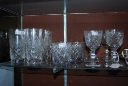 COLLECTION OF ASSORTED EDINBURGH CRYSTAL GLASSWARE INCLUDING WHISKY TUMBLERS, STEMMED WINE GLASSES