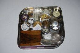 COLLECTION OF ASSORTED POCKET WATCHES AND SILVER CASED POCKET WATCHES IN NEED OF RESTORATION,