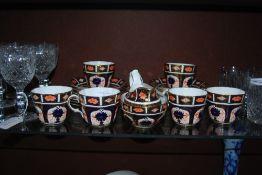 ROYAL CROWN DERBY IMARI PATTERNED COFFEE SERVICE